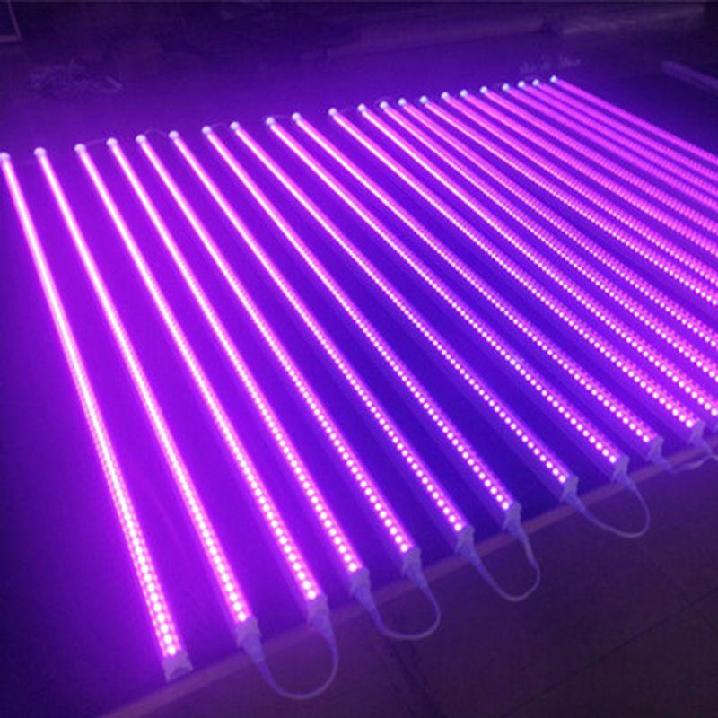 Tube Violet T5LED UV395-400nm Tube intégré Noir Lampe Lumières désinfection par rayonnement ultraviolet Germ rayons ultraviolets stérilisateur colle lumière Subzero