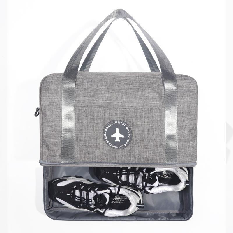 Mulheres Travel Bag Dry Wet Separação Duffle Bag bagagem bolsa grande capacidade com Alça Homens Duffel Weekender