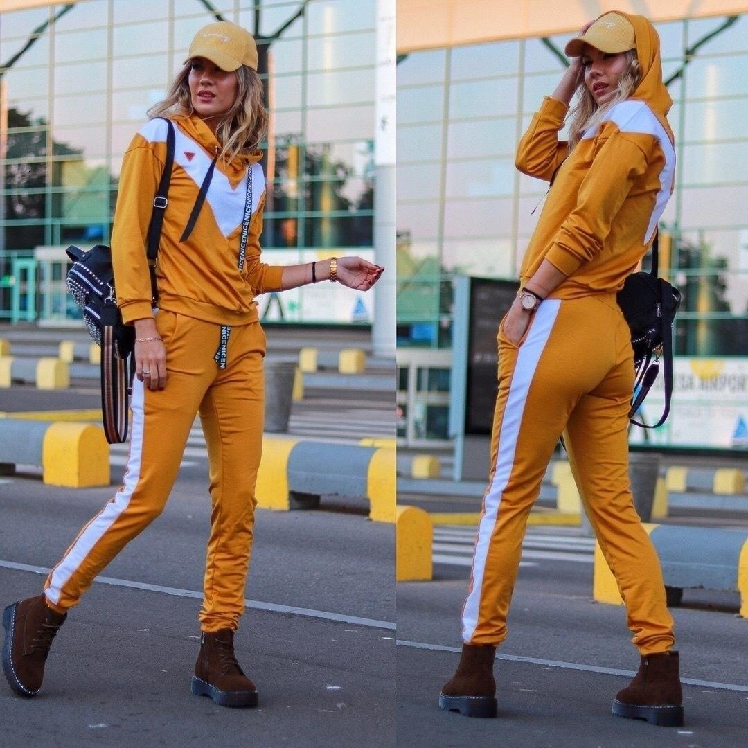 signore europee ed americane di fascia alta casuale sexy cucitura di sport adatta il vestito a due pezzi delle donne WP196601
