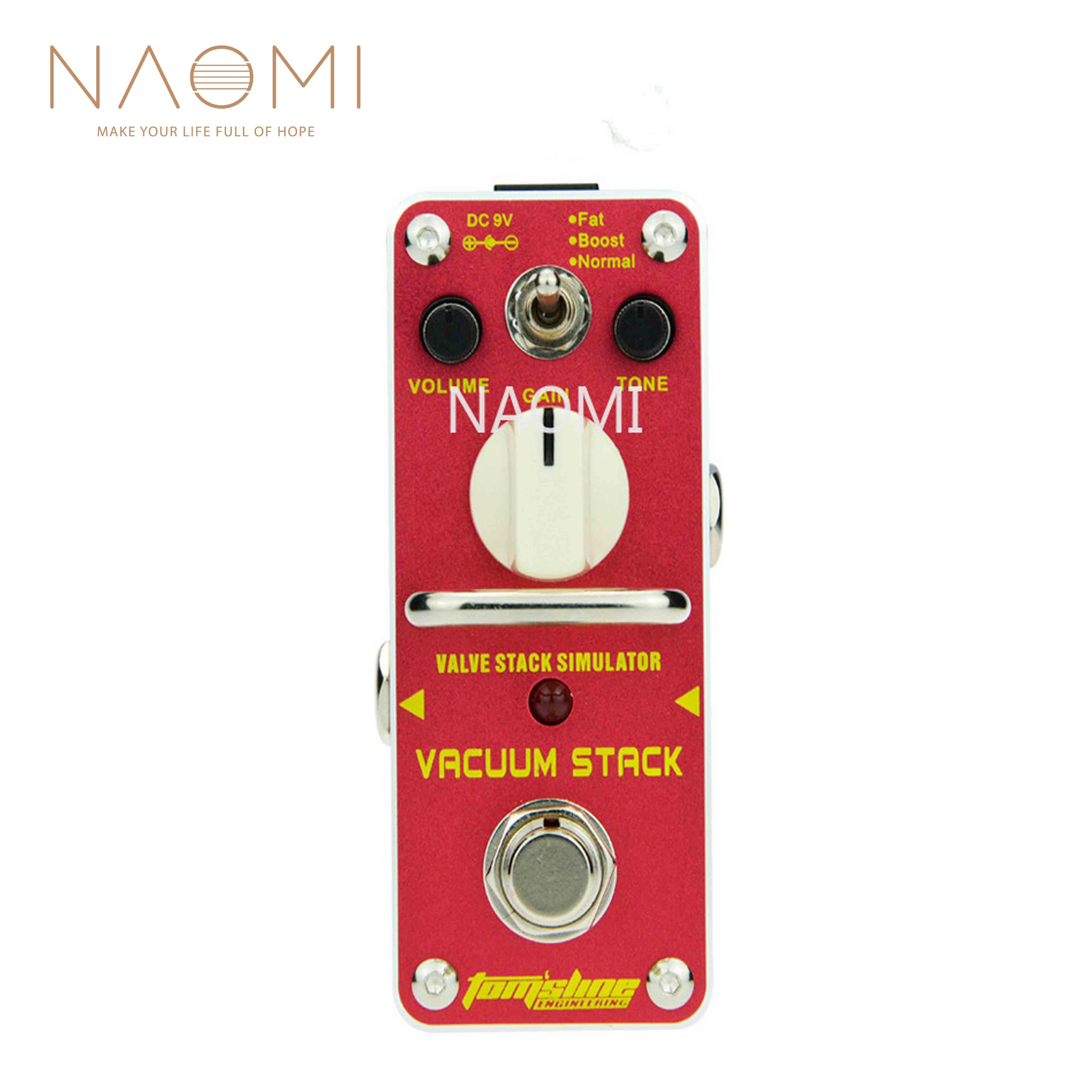 NAOMI AROMA Pédale d'effet guitare AVS-3 Vacuum Stack Mini Pédale d'effet Guitarra W / True Bypass pour guitare électrique Nouveau