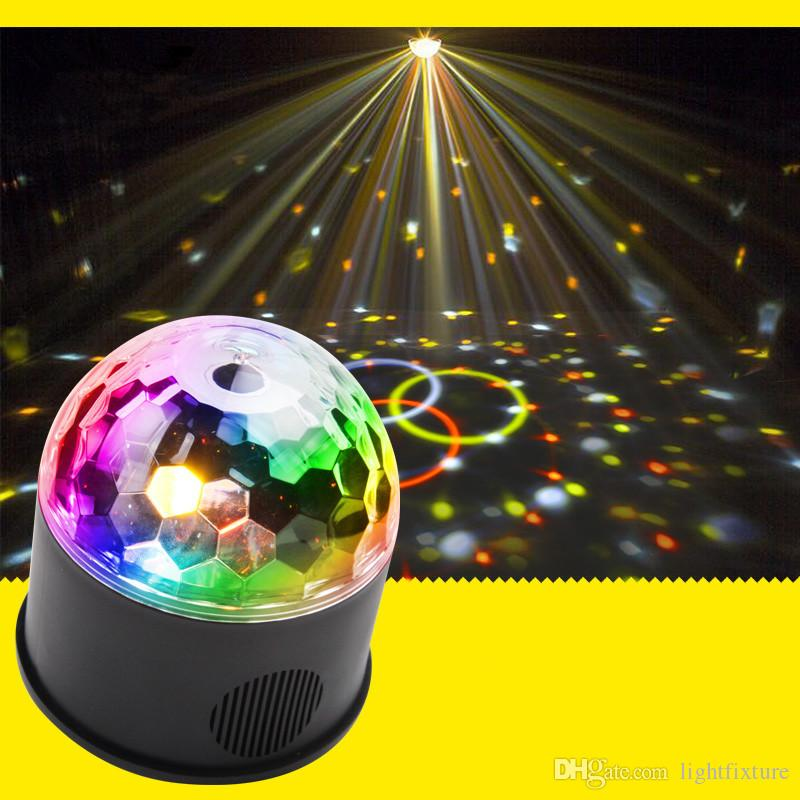 9 Color 9W LED Magic Ball Stage Laser Light Birthday Party Decorations Disco Light Sound Active USB DJ Stage Lighting