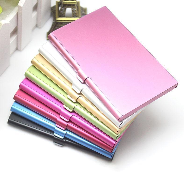 اسم الشركة حامل بطاقة الهوية الإئتمانية ملفات الألومنيوم بطاقة حامل البطاقة التجارية ألومنيوم فضي اللون