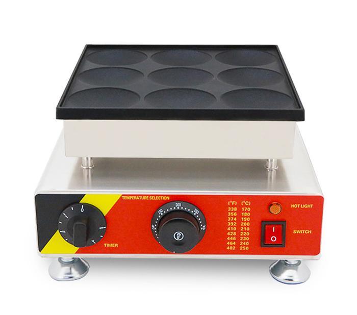 Antihaftpfanne elektrische 8cm Holland Poffertjes Eisen Dorayaki Pfannkuchen Maschine Baker