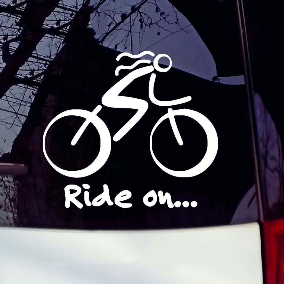12.7*11.5cm Bike Sticker Bicycle Sport Biking Cycling Car Window Sticker Sign Vinyl Waterproof Decals