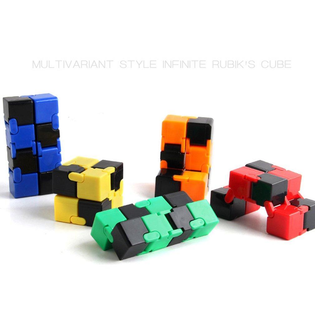 Magie illimitée Cube Magique Décompression pliant Cube Puzzle Fingertip Décompression Creative Toy