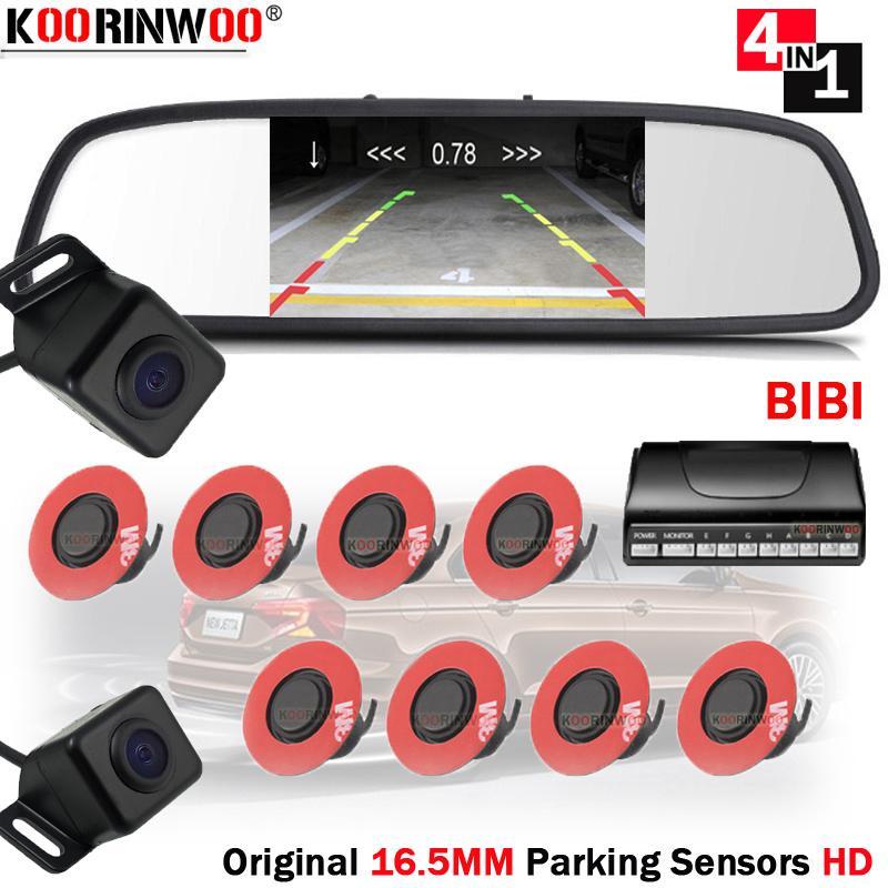 Koorinwoo طقم كامل سيارة مرآة مراقب فيديو مجسات وقوف النظام الأصلي Jalousie مع سيارة للرؤية الخلفية كاميرا اندفاعة رادارات تنبيه