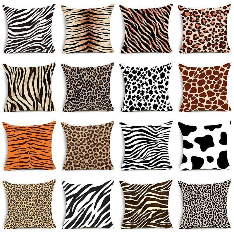 Fronha Único-toma a impressão de padrões animal do leopardo almofadas decorativas Caso Super Macio veludo preto e branco da zebra