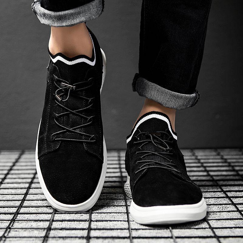 2019 di autunno della molla classiche da uomo cuoio genuino dei pattini casuali coreane Sneakers versione per Maschio comodo pattino Calzature