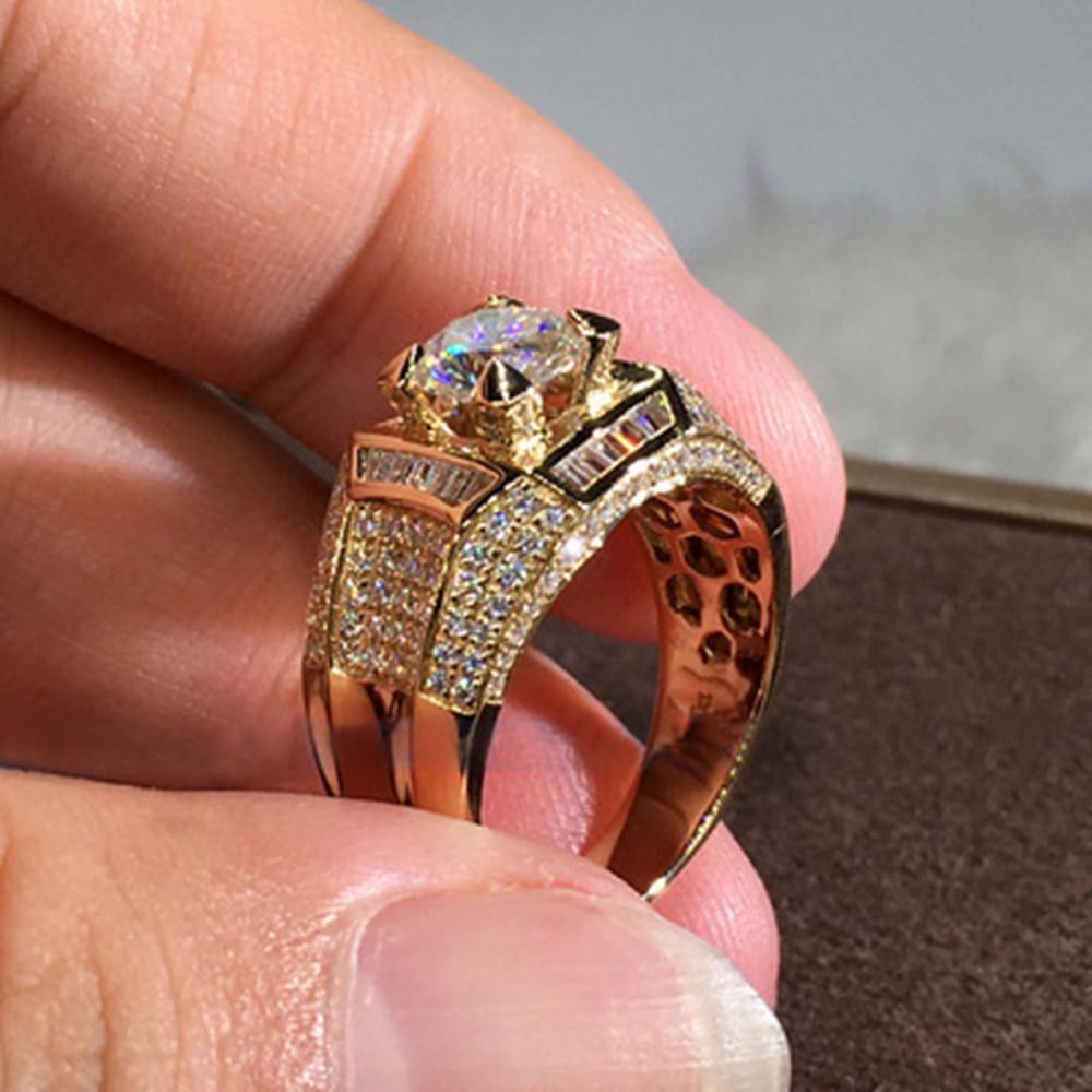 2020 New Hip-hop de aço inoxidável Anel de ouro da moda de Rock jóias Zircon Anel de casamento