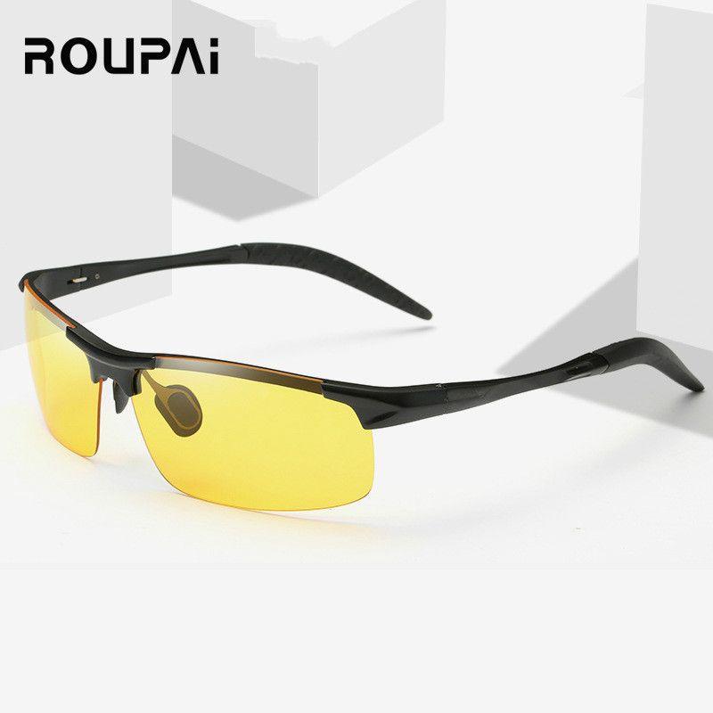 ROUPAI Nachtsichtbrille Anti-Glare Polarizer Autofahrer Nachtsichtbrille polarisierte Driving Gläser Gelb Sonnenbrillen