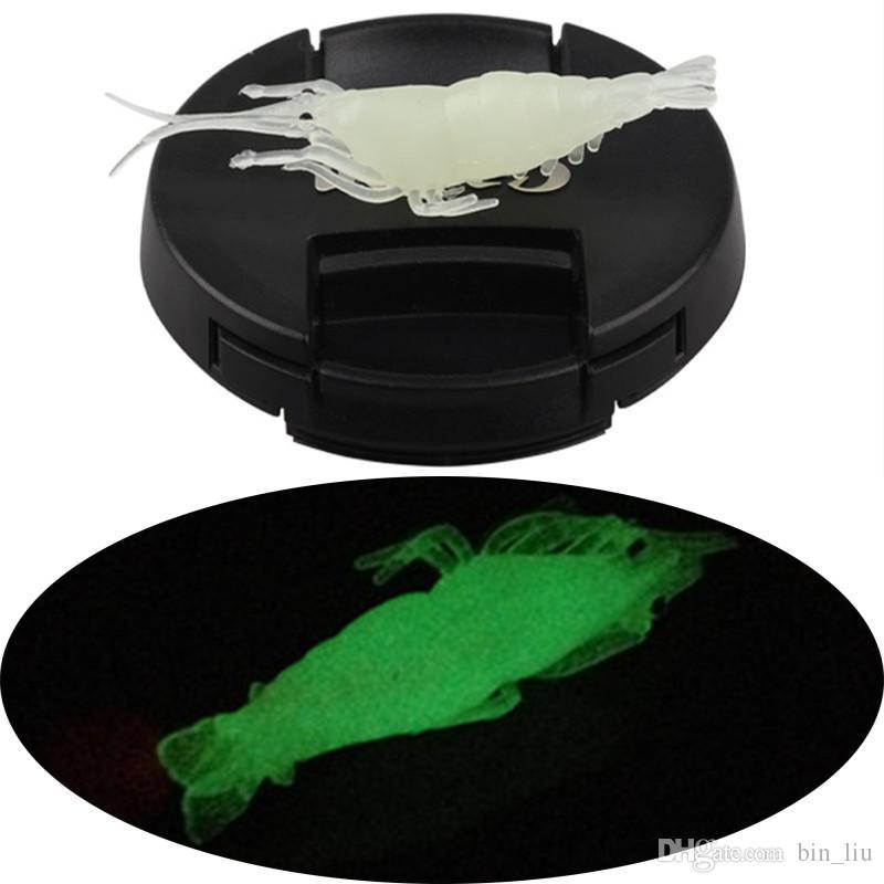1 개 4 센치 메터 1 그램 발광 새우 실리콘 낚시 미끼 부드러운 미끼 미끼 인공 미끼 Pesca 낚시 태클 액세서리