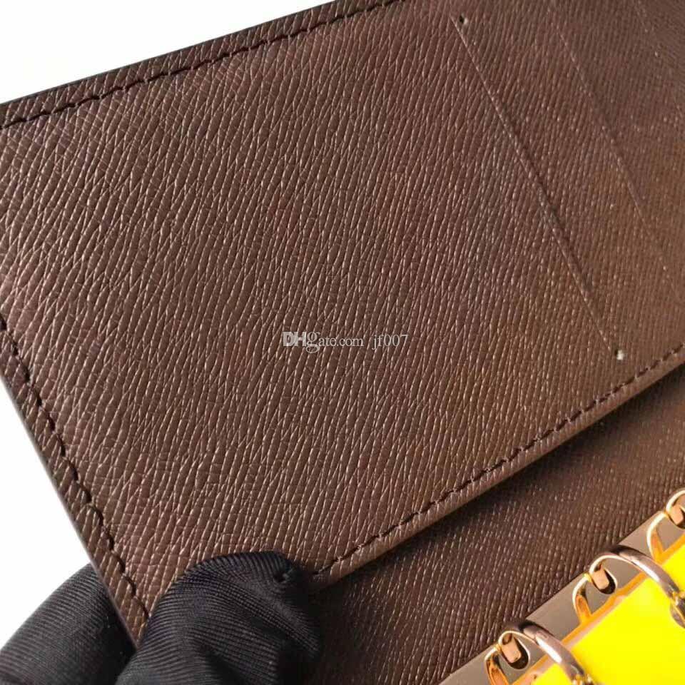 1201 mens designer portafoglio coin pouch fiore designer purse AGENDA copertura Designer Mens Womens Fashion Notebook con la scatola