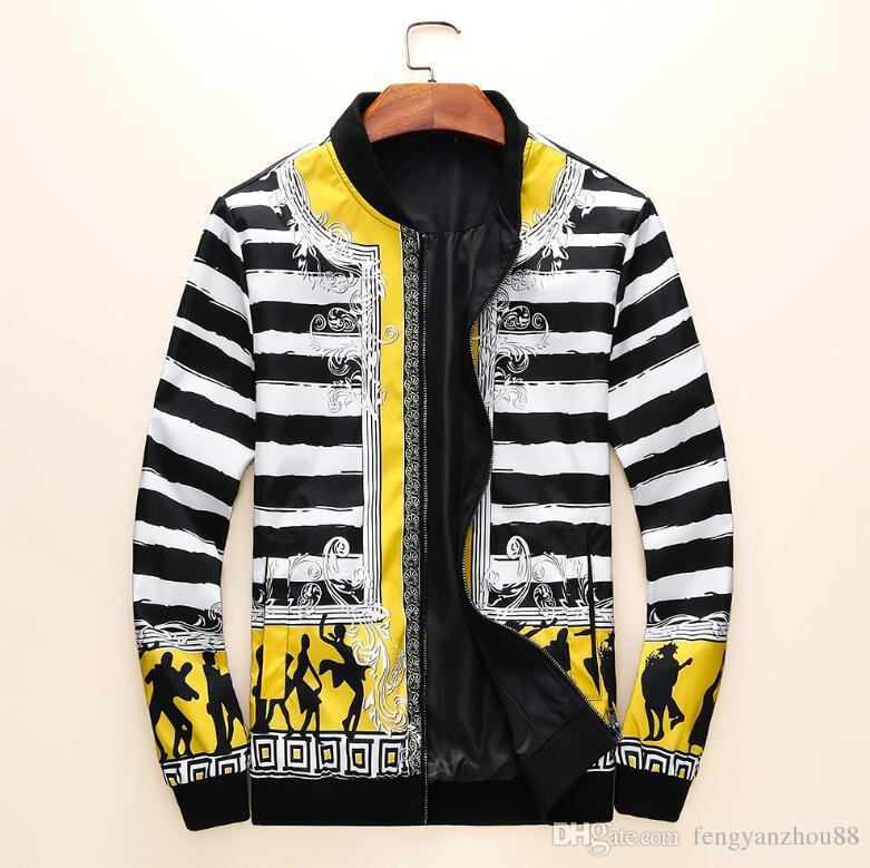 Die neuesten internationalen Herrenjacke High-End-Mode Jacke Boutique Kleidung Stickerei Print Mantel Version Europa und Amerika