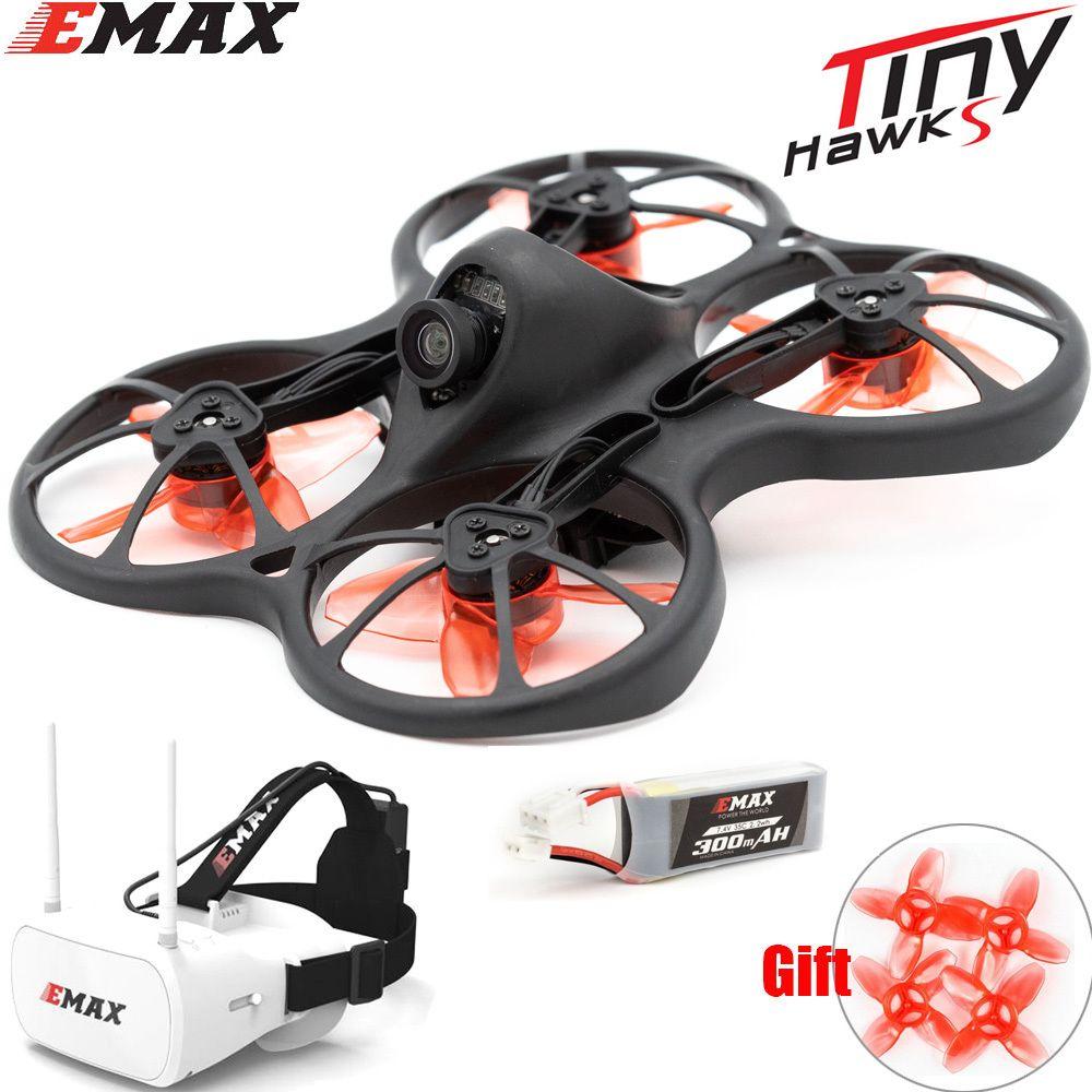 Emax2s Tinyhawk S 사진기를 가진 소형 FPV 경주 무인비행기 0802 15500KV 무브러시 모터 지원 1/2s 건전지 5.8G FPV 유리 RC 비행기 Y200413