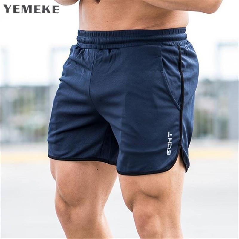 Pantalones cortos para hombre gimnasios de media caña de fitness culturismo Joggers Casual entrenamiento Marca deportivos pantalones deportivos pantalones cortos de deporte Y200108