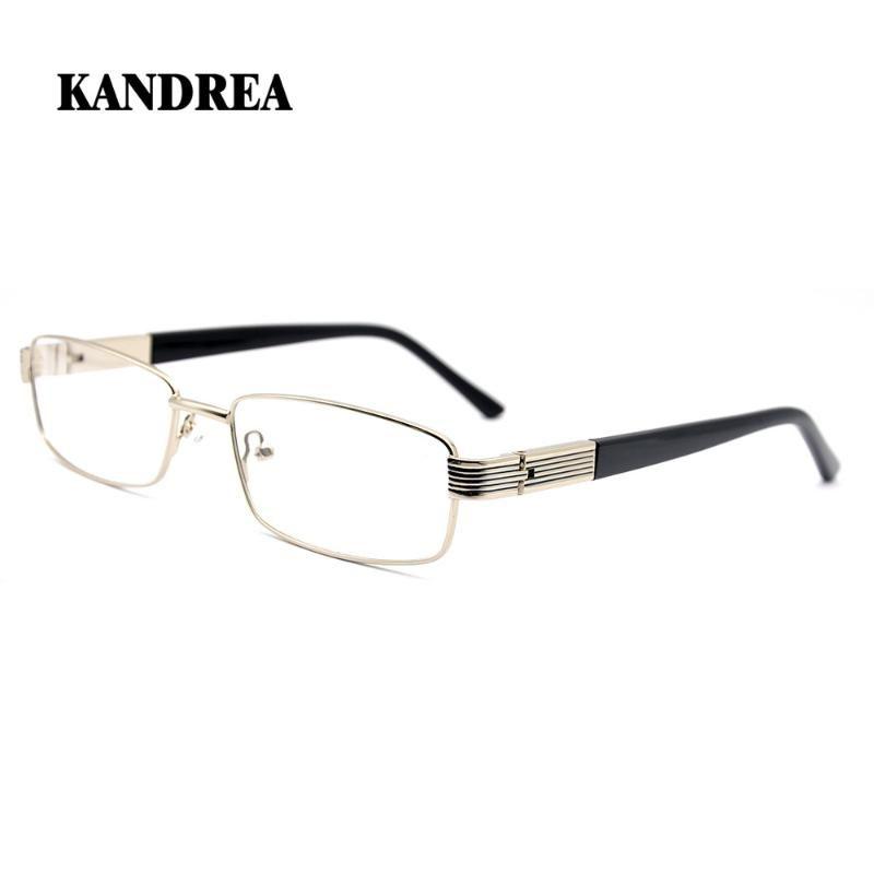 KANDREA 2020 New Men Full Frame зрелища металл площадь Glasses кадры Мода 2 цвет Человек очки Анти Blue Ray Eyeglass