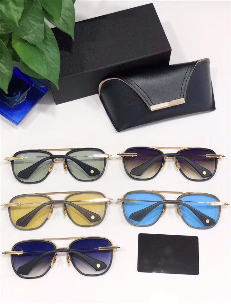 gafas de sol dita cosecha de metal gafas de sol de diseñador de los hombres cuadrados estilo de la moda retro sin marco UV 400 lentes con el caso original RIKTON Johnson