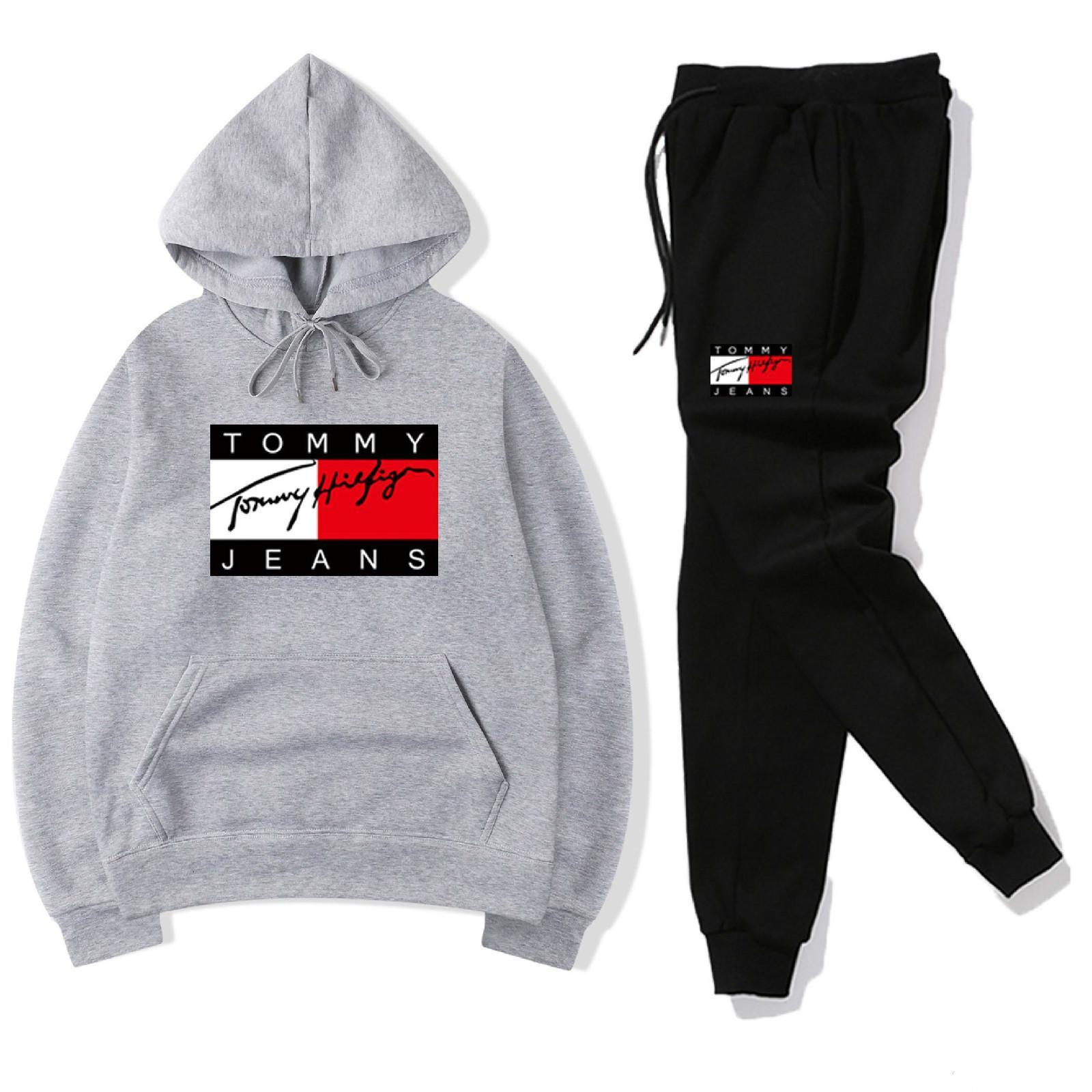 Suits Koşu Erkekler ler beyaz eşofman Spor Setleri kapalı Tasarımcı Kapüşonlular Erkekler Sweatshirt Takım Elbise Erkek pantolon Marka Giyim 14 tarzını gevşek