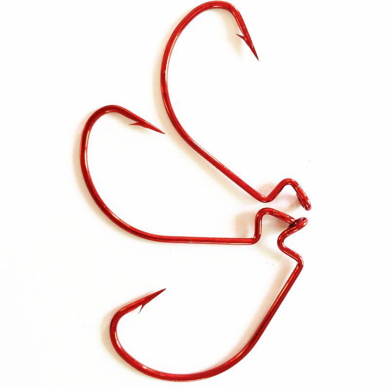 500 قطع حجم 4 # الأحمر الأوفست هوك الصيد هوك الساعد الأحمر دودة شارب هوك 2.7 * 1.75 سنتيمتر شص pesca