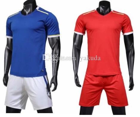 réversible formation Mesh hommes costume de football logo adulte sur mesure, plus les combinaisons de jeu de football Maillots Avec Shorts personnalisés kits Uniformes de sport
