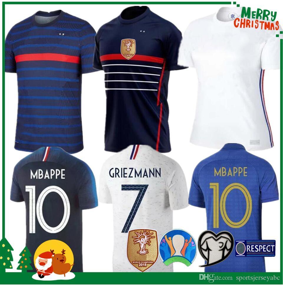 2020 Francia Mbappé Griezmann Pogba jerseys 2021 camisetas de fútbol camiseta de fútbol maillot de pie