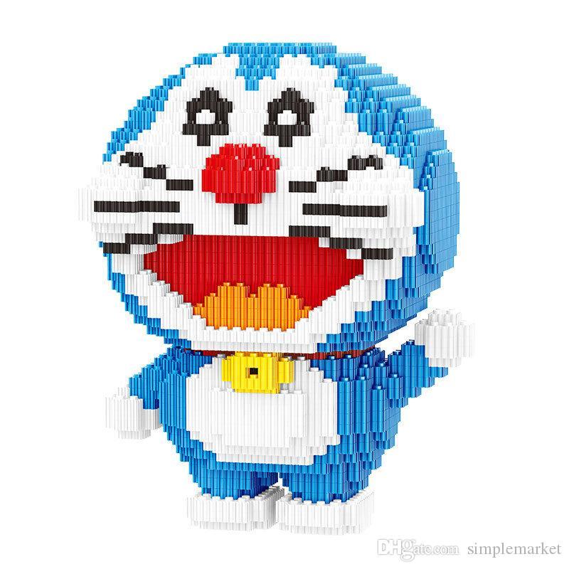 blocos Série, pequenas partículas, montados brinquedos, Doraemon, brinquedos educativos, blocos de construção, brinquedos para crianças