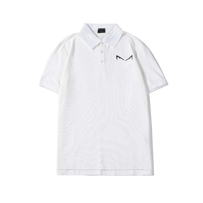 Mode Hommes Polo 2020 d'été de haute qualité de luxe Motif Imprimer Haut T-shirts manches courtes deisgner Polos Casual-2XL
