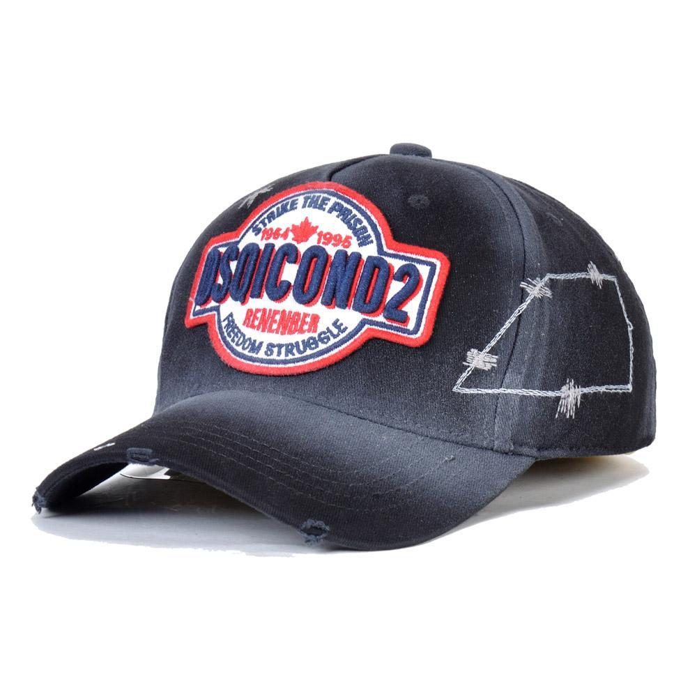 جديد أزياء الرجال DSQICOND2 مصمم القبعات Casquette التطريز الفاخرة قبعة قابل للتعديل وراء خطابات D2 غطاء الفاخرة