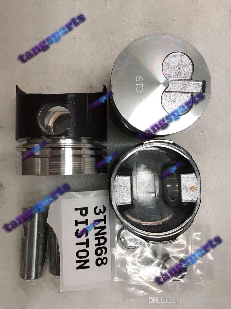 3TNA68 piston & Pin & Clips & Rings for YANMAR engine fit forklift diesel excavator engine overhaul repair parts