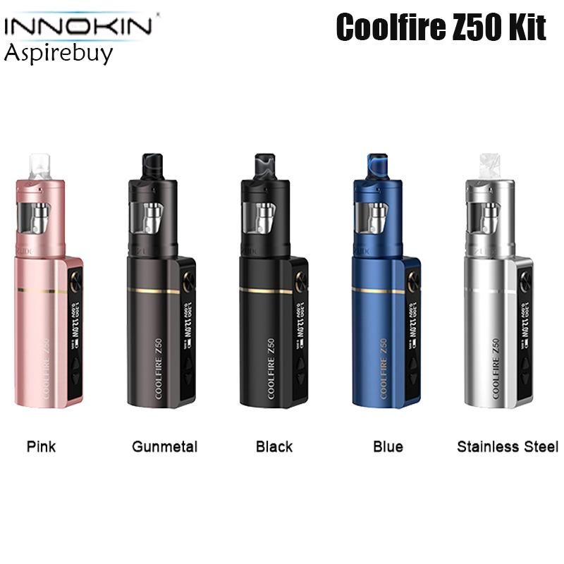 Innokin Coolfire Z50 Kit 2100mAh built-in Battery with 4ml Zlide Tank Competiable with all Z Coil E-cigarette Kit VS Drag S 100% Original