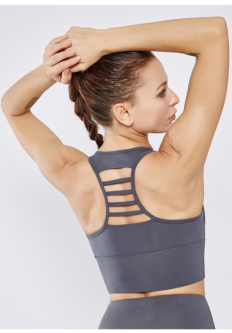 Yogaworld عبر الحدود الجسم لبناء المضادة للصدمة على الوجهين نايلون الرياضة الصدرية Yogaworld البرازيلي اللياقة البدنية S M L XL