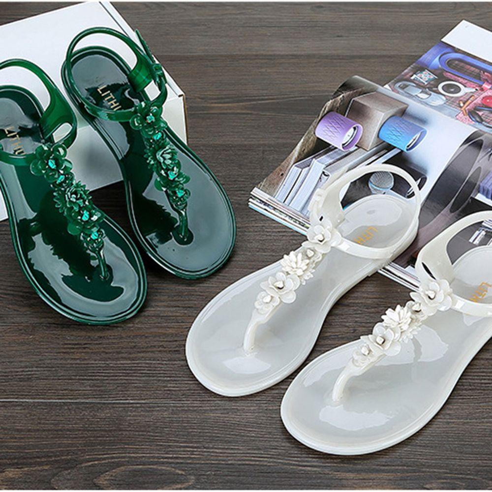 Sandali donna scarpe trappole alla caviglia Floreale in gelatina scarpe in pelle morbida giornaliera rapida asciugatura impermeabile spiaggia estiva sandali casuali