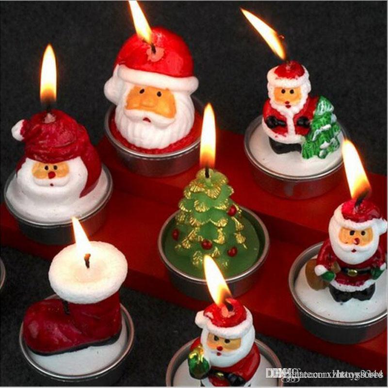 httoy 3pcs regali di natale Candele Babbo Natale del pupazzo di neve del partito Accessori Casa Decorazioni adulti Capodanno giocattoli per i bambini Grownups