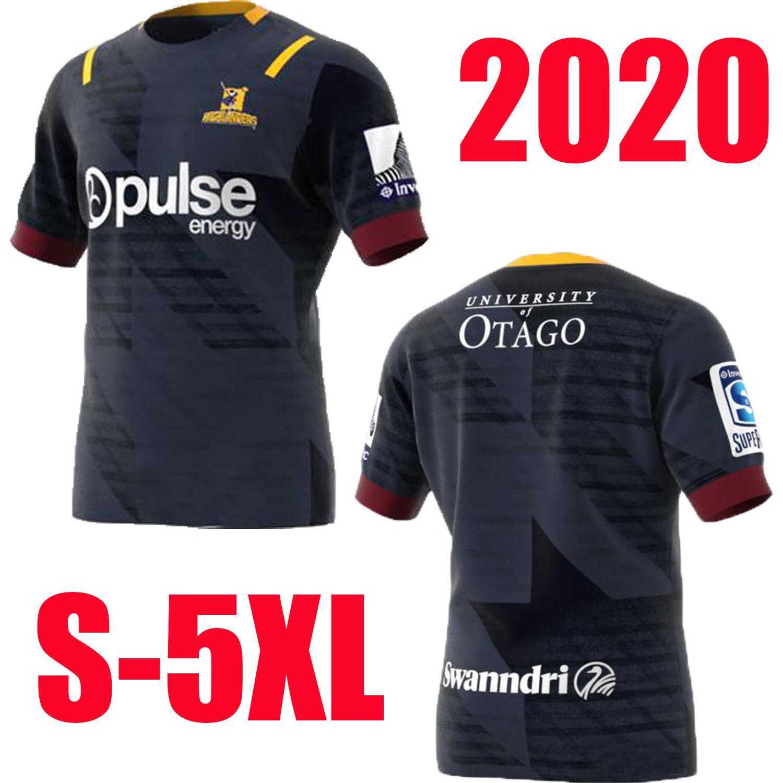 유니폼 S-5XL 럭비 최고 품질 2020 뉴질랜드 슈퍼 럭비 저지 고지 홈 저지 리그 셔츠 고지