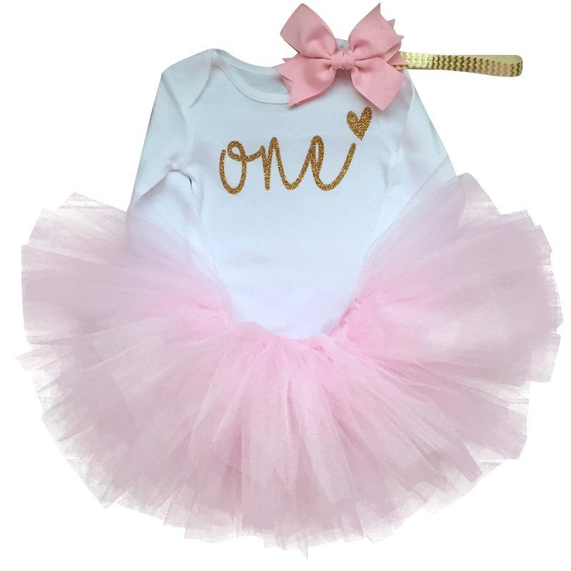 Tatlı Pembe Kış Bebek Giyim Tutu Kabarık Kek Smash Doğum Kıyafetler 1 Yıl Kız Bebek Vaftiz Suit Bebek Parti Wear ayarlar