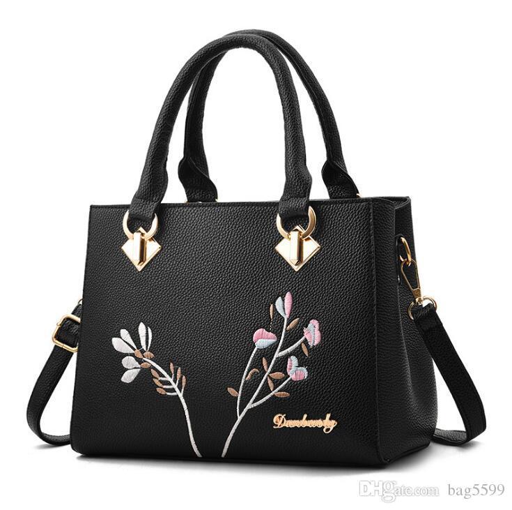 HBP Fashion New Lady Largeem broidered Bag Large Capacity Simple Shoulder Bag Handbag