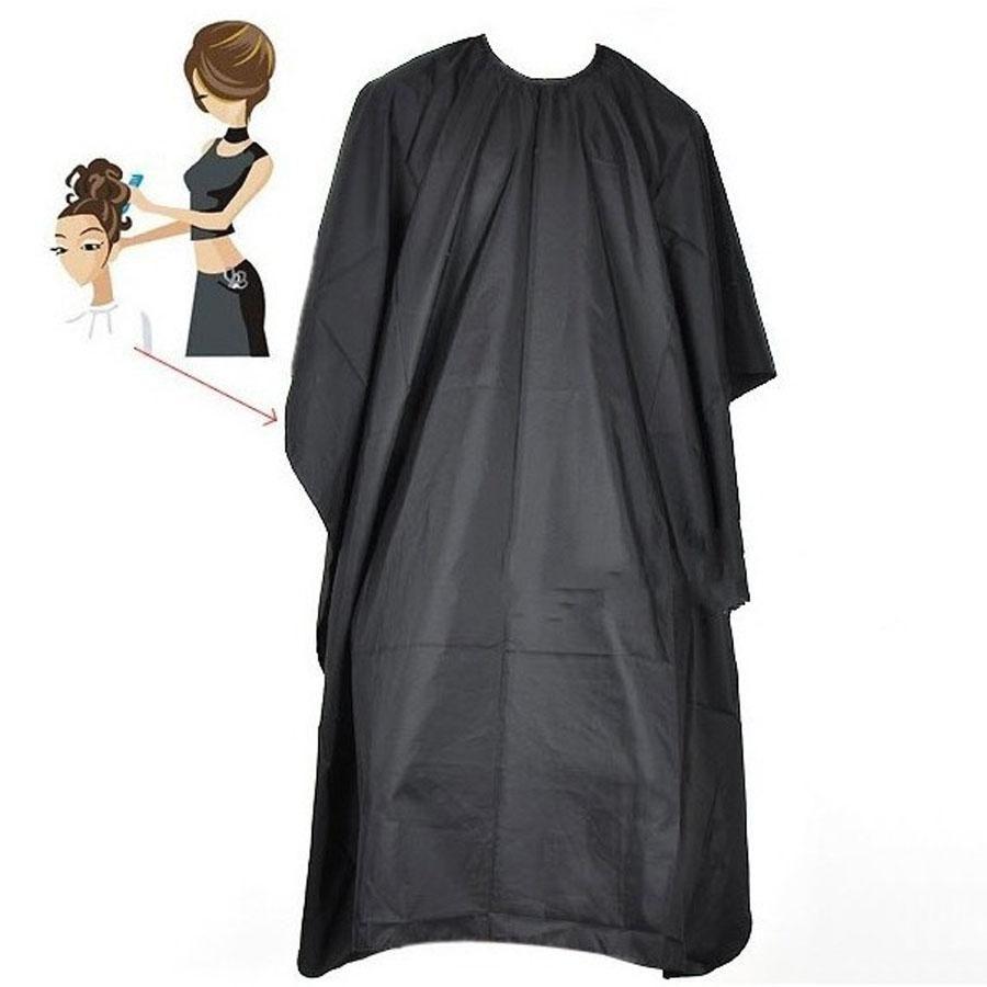 Delantales de corte de pelo adulto Salones de peluquería profesional Durable Negro Corte de pelo adulto Salón de tela delantales afeitado Wai tela DH0890