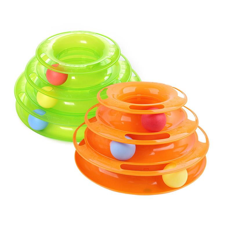 Trilaminar Cat Track BallLustige Disk Interaktive Vergnügungsplatte Pet Toy Spielen Kätzchen Plattenspieler Entertainment Tools