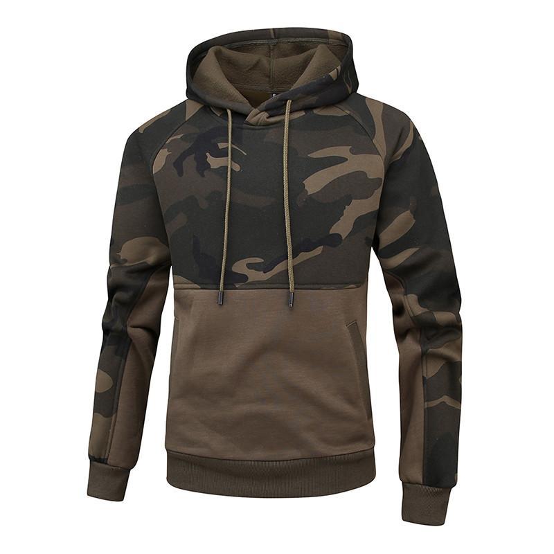 Nouvelle taille Pulls Manteau Camouflage Sweat Casual Printemps Automne Homme Mode sport à capuche UE Homme S-2XL