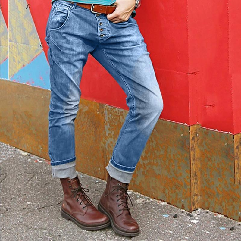 Jeans femininos 2021 High cintura namorado rasgado para mulheres slim denim magro mãe plus size push up lápis calças # 35