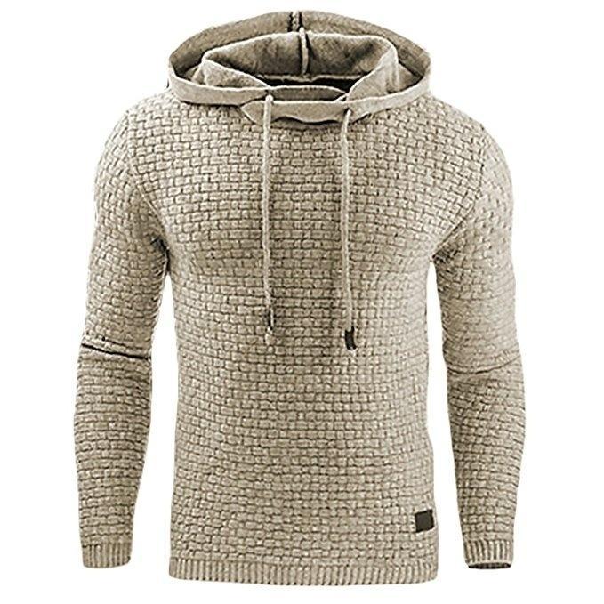 2017 Nouveau Hoodie Casual hommes vente chaude Plaid jacquard Hoodies Mode capuche style militaire à manches longues hommes Sweat 4XL Y191030