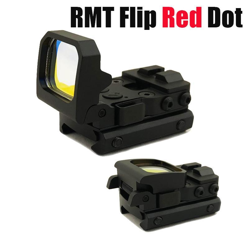 Táctico RMT Flip Dot rojo Pistola vista holográfica reflejo plegable vista con 20 mm picatinny monte de color negro