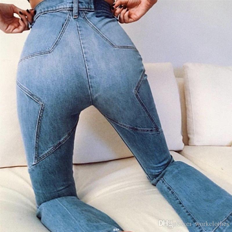 2017 neue sexy frauen denim hosen popstar muster kurze beiläufige damen hohe taille dünne stretchy jeans leggings hosen