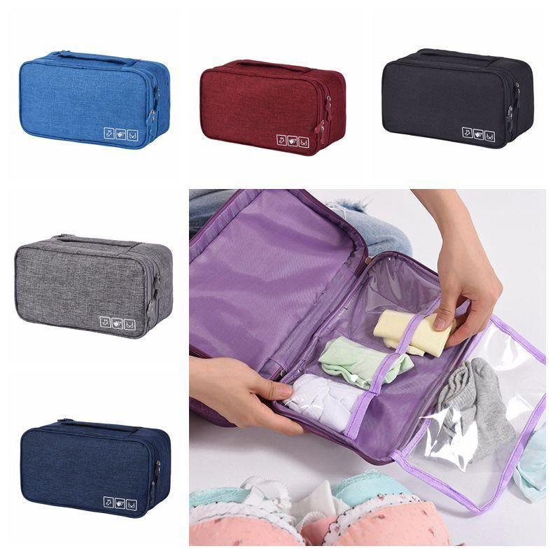 Portable Bra Underwear Storage Bag Waterproof Travel Socks Cosmetics Drawer Organizer Wardrobe Closet Clothes Pouch CCA11860-C 100pcs