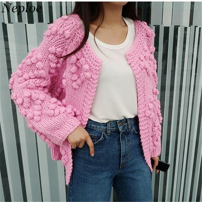 Neploe Coeurs tricotés à main femmes Cardigan en vrac Vintage Sweet Girl Ouvert Stich 2019 Nouveau Auttum Mode Hiver Sueter Mujer 68638 SH190930
