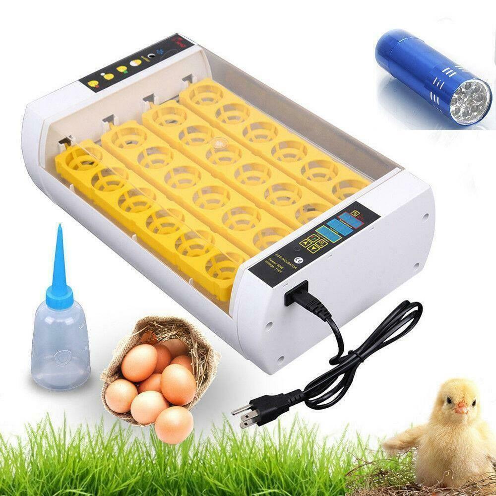 24 حاضنة البيض هاتشر التلقائي درجة الحرارة وتطرق تحكم الولايات المتحدة التوصيل