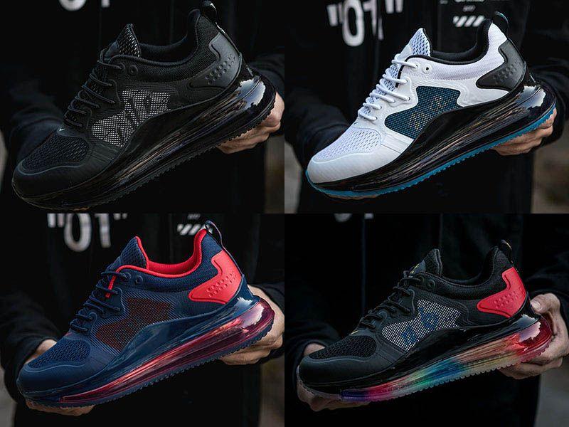 2020 nuovi uomini cuscino pieno scarpe da corsa nero rosso tripla esterna Mens Trekking scarpe da ginnastica Star Trek Le scarpe sportive allenatore dimensioni 40-45