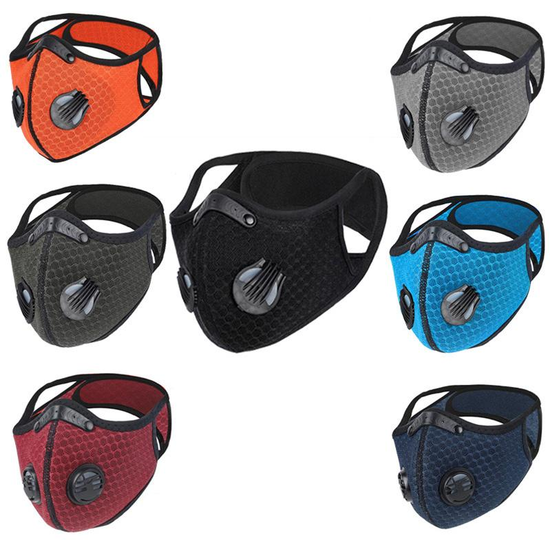 Bicycle Dust-proof Sports Mask Activated Carbon Cycling Running Face Cover Anti-Pollution Outdoor Training Masks With Filter