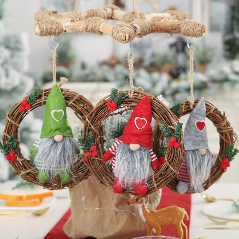 Home Decor Christmas Ornaments Xmas Supplies Doll Pendants Hanging Decorations