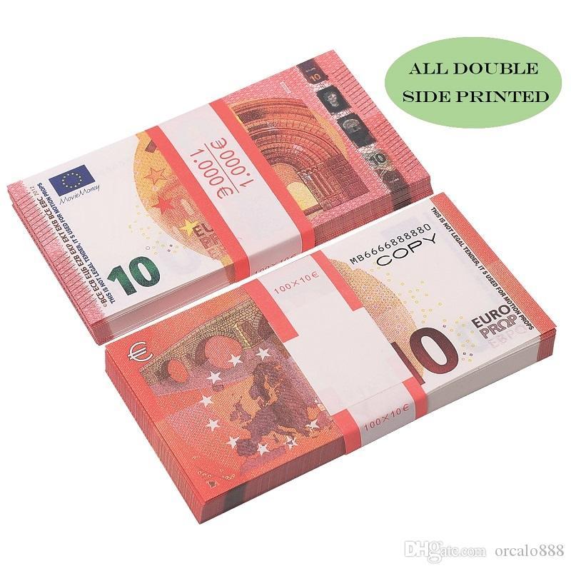 Оптом бумага деньги евро 5/10 / 20/50 игрушек поддельные евро копировать банкноту 100 шт. / Пакет
